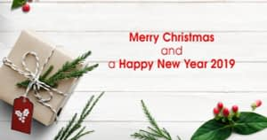 Merry Christmas and a Happy New Year 2019