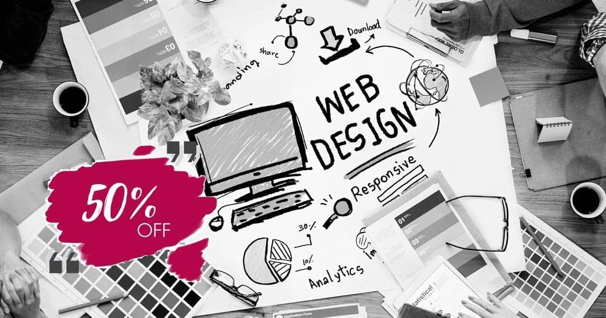 October Discount - Up to 50% off - Web Design